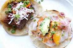 Guerrilla Tacos Fine-dining expat Wesley Avila's Guerrilla Tacos has quickly risen to the top of L.A.'s taco scene. And, for a good reason! Its daily-changing menu — laden with meat, fish, and veggie offerings — uses a variety of fresh and locally sourced ingredients to produce some of the straight-up best elevated versions of Mexican street food you can find.  Guerrilla Tacos; various locations.