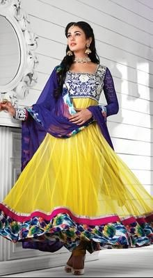 Bollywood Actress Sonal Chauhan Net Anarkali Suit