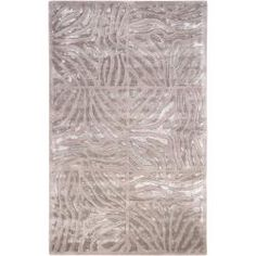 Candice Olson Hand-tufted Beige Zebra Animal Print Redfield Wool Rug (9' x 13')