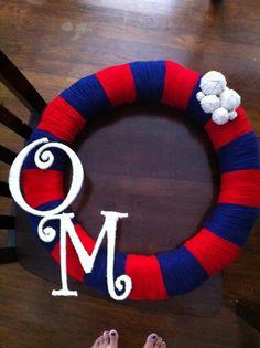 My Ole Miss Wreath-- Hotty Toddy!