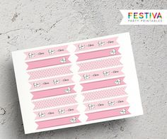 Flag Labels / Cupcake Flag / Party Topper / French por FestivaParty