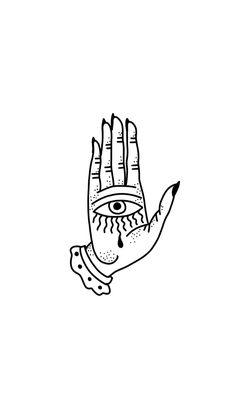 eye inside a hand - Halloween Wallpaper Mini Tattoos, Cute Tattoos, Body Art Tattoos, New Tattoos, Small Tattoos, Retro Tattoos, Doodle Tattoo, Tattoo Motive, Poke Tattoo