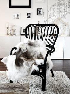 Zwart & Wit: bontje huiskamer.