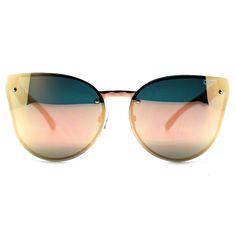 Quay Australia Higher Love Sunglasses in Gold/Pink