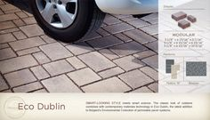 Permeable pavers for driveway and walk.  Won't crack like concrete.  Long warrenty.  Comes in gray.  Doing this!