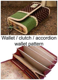 Here's a great wallet sewing pattern from Shannon of NapKittenPattern. Handbag Patterns, Bag Patterns To Sew, Sewing Patterns, Sewing Ideas, Sewing Projects, Craft Projects, Craft Ideas, Clutch Bag Pattern, Wallet Sewing Pattern