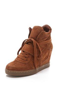 Ash Cool Wedge Sneakers in Suede | SHOPBOP