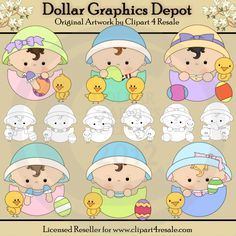 Baby Easter Eggs - Combo Set - $1.00 : Dollar Graphics Depot, Quality Graphics ~ Discount Prices