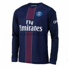 ad9551c7b Paris Saint-Germain Home Cheap Soccer Long Sleeve Shirt Jersey