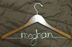 DIY personalized hangers (and other DIY wedding ideas)