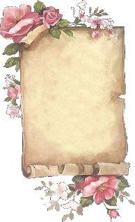 Frame = place card if I turn it sideways. Vintage Diy, Vintage Labels, Vintage Frames, Vintage Cards, Vintage Paper, Vintage Prints, Vintage Scrapbook, Scrapbook Paper, Scrapbooking