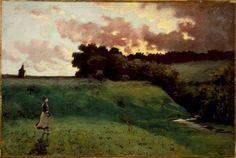 """""""Stormy Landscape"""". Louis Michel Eilshemius, artist via Frank T Zumbach"""