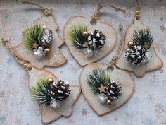 Handmade Christmas Decorations, Christmas Ornaments To Make, Easy Christmas Crafts, Rustic Christmas, Simple Christmas, Yule Crafts, Coffee Crafts, Diy Christmas Decorations, Xmas Decorations