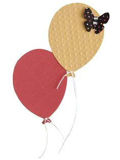 Balloon Paper-Piecing Pattern - love the embossing on the balloons