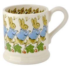 """""""Beatrix Potter"""" Seconds Peter Rabbit 1/2 Pint Mug at Emma Bridgewater"""
