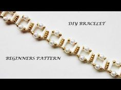 How to make elegant beaded bracelet, beginners pattern