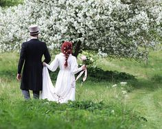 Bride and groom in a field of spring blossom - natural organic wedding inspiration // Jenny Owens Photography // The Natural Wedding Company Spring Wedding Inspiration, Wedding Bouquets, Wedding Dresses, Wedding Company, Spring Blossom, Blue Wedding, Groom, Romantic, Bride