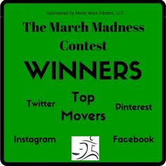 The winners of our #MarchMadness Contest!!!! #MoveMoreFitness