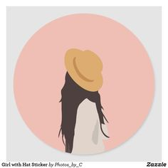 Girl with Hat Sticker Girl With Hat, Different Shapes, Girls Shopping, Party Hats, Custom Stickers, Activities For Kids, Gifts For Her, Art Pieces, Vibrant