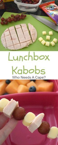 Prepare these Lunchbox Kabobs for your kids lunches. Easy to customize, perfect…