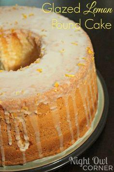 Glazed Lemon Pound Cake #recipe #apeekintomyparadise #tastytuesdays