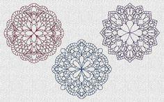 Crochet Look Quilt Blocks Redwork Machine Embroidery Designs    These are machine embroidery designs. NOT hand embroidery designs. Please read