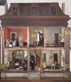 The Dutch House - A mid-Victorian Mahogany Mansion Dollhouse