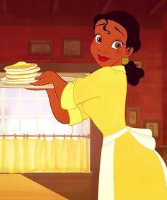 Tiana, serving hot cakes here your fresh hot cakes coming up' sir