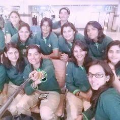 Pakistan's women's cricket team - en route to a tour of South Africa Via @Razarumi