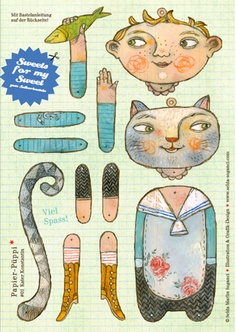articulated paper doll/puppet