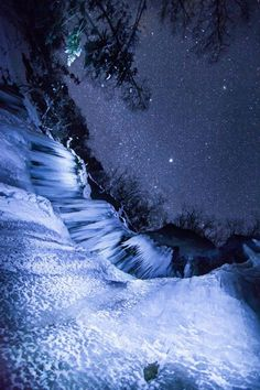 """Icefall Sky"" nature photograph by Mitsuhiko Kamada"
