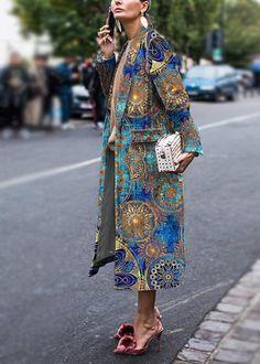 Fashion floral pattern long sleeve coat , Fashion Floral Printed Long Sleeve Coat , Moda Source by Fashion Week, Look Fashion, Fashion Beauty, Womens Fashion, Fashion Design, Fashion Trends, Fashion Coat, Winter Fashion, High Fashion