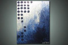 Blue Ice Brightly   2 ft x 15 ft Modern Abstract by NickReitenour, $39.00