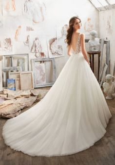 Aline Wedding Dresses 2017 Morilee wedding dresses by Madeline Gardner - Discover our favorite 2017 bridal trends from Morilee by Madeline Gardner. Hint: there may be some blush gowns and floral details. Spring 2017 Wedding Dresses, Crystal Wedding Dresses, Western Wedding Dresses, Classic Wedding Dress, Perfect Wedding Dress, Bridal Wedding Dresses, Wedding Dress Styles, 2017 Bridal, Wedding Blue