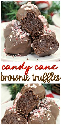 Candy Cane Brownie Truffles Candy Cane Brownie Truffles- christmas dessert idea to make for parties! Everybody loves these! Xmas treat for christmas parties. Christmas Truffles, Christmas Brownies, Holiday Desserts, Holiday Baking, Christmas Desserts, Christmas Baking, Christmas Parties, Christmas Treats To Make, Vegan Christmas
