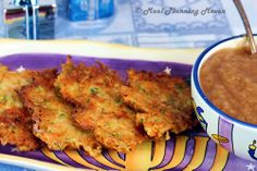 """Veggie-Potato Latkes...You don't have to celebrate Chanukah to love latkes! While traditional potato latkes are the most common, it's lots of fun to """"mix it up"""" by adding all kinds combinations of your favorite veggies. So consider trying your hand at making your own latkes and watch how quickly your family gobbles them up!"""