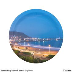 Scarborough South Sands Paper Plate
