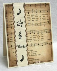 Musical Thanks by ejkeaton - Cards and Paper Crafts at Splitcoaststampers