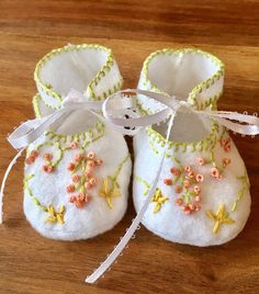 A personal favorite from my Etsy shop https://www.etsy.com/listing/517522949/embroidered-spring-flower-baby-booties