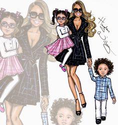 Hayden Williams Fashion Illustrations: Mariah + Roc & Roe by Hayden Williams