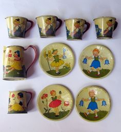 lovely tin tea set