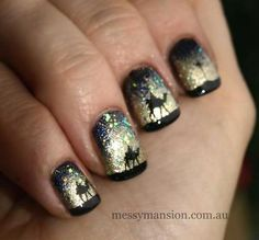The 3 Wise Men nails. This is amazing!
