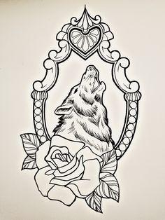 wolf frame tattoo - Pesquisa Google