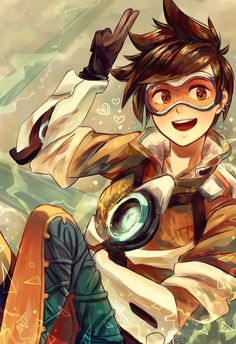 """lightofdoodles: """" I really love Tracer shes so cute! Overwatch Drawings, Overwatch Comic, Overwatch Fan Art, Tracer Fanart, Overwatch Wallpapers, Heroes Of The Storm, Fanarts Anime, Video Game Art, Video Games"""