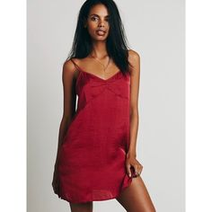 SALE💙 FREE PEOPLE Basic Satin Slip Red. Like new. Amazingly comfortable and sexy. Free People Dresses Mini