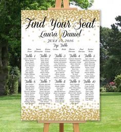 Personalised Gold Or Silver Glitter Effect This Gorgeous Wedding Table Seating Plan Is Digitally Printed