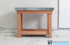 Seal the concrete to finish the top of the kitchen island