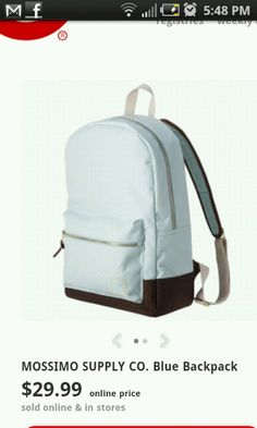 Cute backpack for school. Simple and mint!