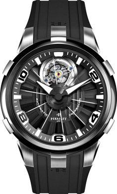 La Cote des Montres : La montre Perrelet Turbillon - Une turbine à tourbillon !