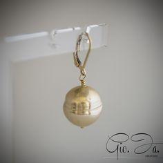 Walnut Baroque Pearls Pendant Earrings